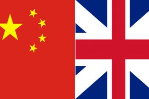 علم الصين و بريطانيا