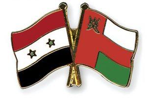 علم سورية و سلطنة عُمان