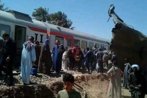 حا\ث تصادم قطاري في سوهاج
