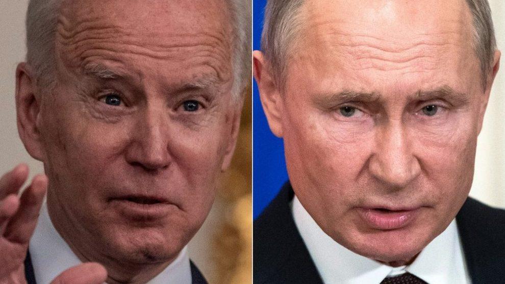 رئيس روسيا فلاديمي بوتين و رئيس الولايات المتحدة جو بايدن