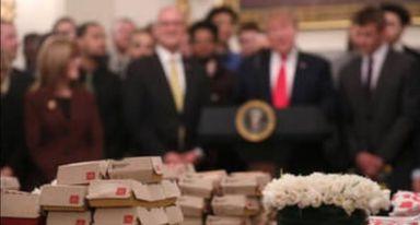 وجبة طعام من ماكدونالد ل ترامب و موظفيه