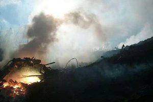 حريق في مخيم النازحين السوريين