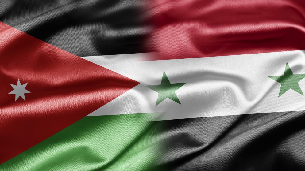 علم الأردن و سورية