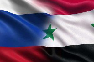 علم روسيا و سورية