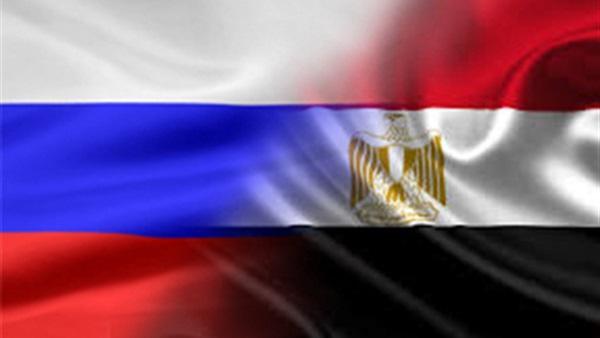 علم روسيا و مصر