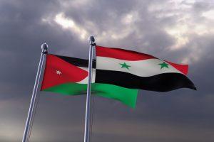 علم سورية و الأردن