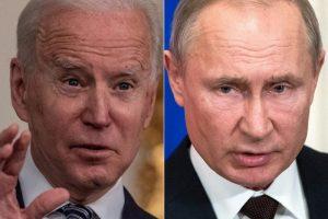 رئيس روسيا فلاديمير بوتين و رئيس الولايات المتحدة جو بايدن