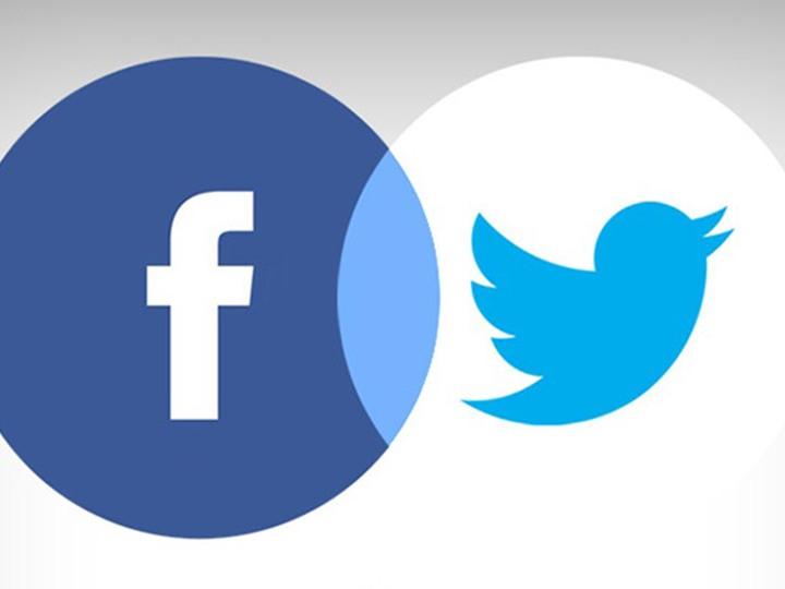 شعار تويتر و فيسبوك