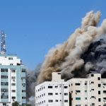 "The Associated Press: ""Israel"" hit the Jalaa Tower in an attempt to silence the press coverage"