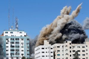 """The Associated Press: """"Israel"""" hit the Jalaa Tower in an attempt to silence the press coverage"""