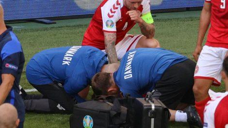 تعليق مباراة في يورو 2020 بعد سقوط مفزع للاعب الدنمارك إريكسن إثر نوبة قلبية