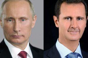 الرئيس بشار الأسد و الرئيس فلاديمير بوتين