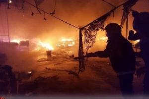 حريق بمركز عزل مصابي كورونا جنوبي العراق
