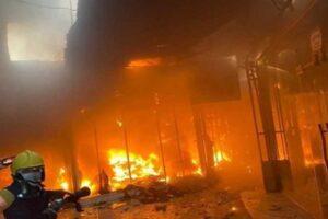 حريق في فندق بالعراق