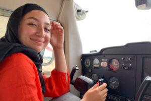 Syrian pilot Maya Ghazal