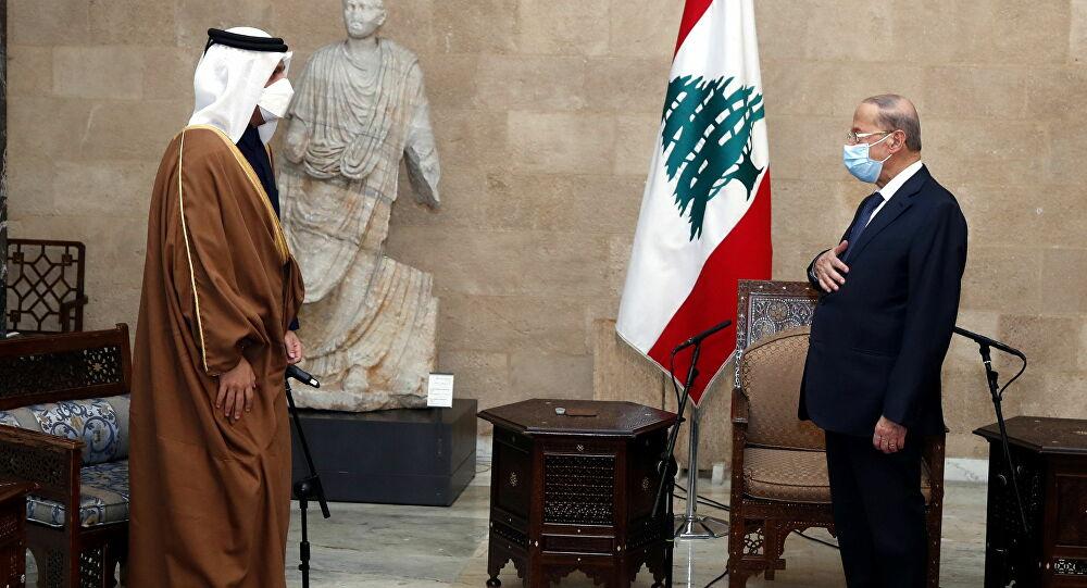 رئيس لبنان ميشال عون و وزير خارجية قطر محمد بن عبد الرحمن آل ثاني