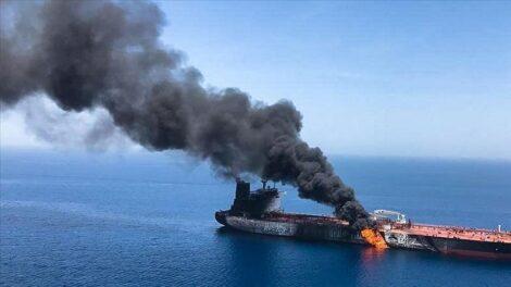 """استهداف السفينة """"الإسرائيلية"""" قبالة عمان"""