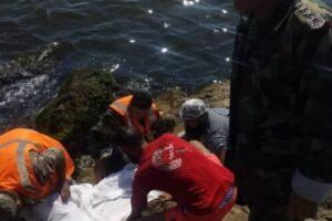 انتشال جثة من البحر