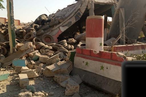 تفجير مبنى فرقة حزب البعث العربي الاشتراكي وسط مدينة داعل