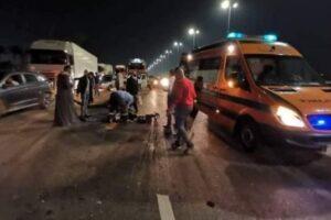 حادث مروع في منفلوط بمصر