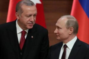 الرئيسان فلاديمير بوتين و رجب طيب أردوغان