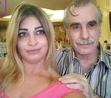 المخرج السوري يوسف رزق و زوجته